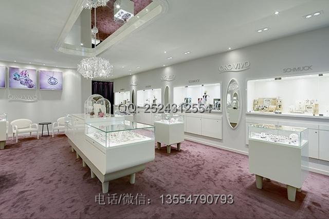 珠宝品牌,该店面结合欧式流行元素设计而出的白色